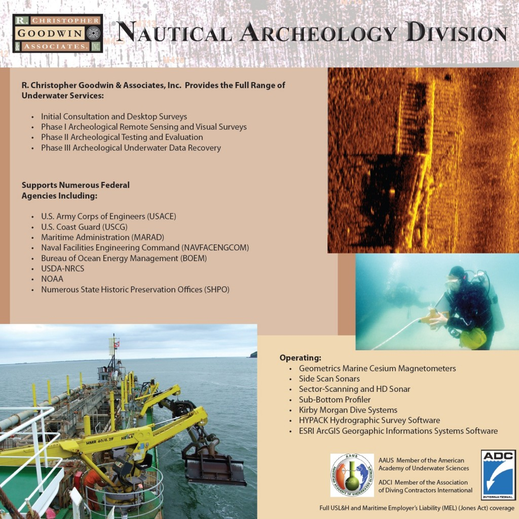Cultural Resource Management Services |  Nautical Archaeology Division